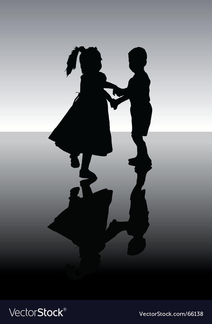 Dancing children vector | Price: 1 Credit (USD $1)