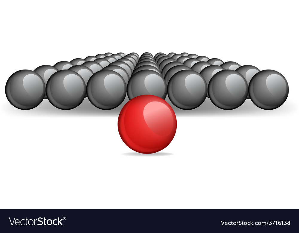 Follow the leader unique red ball image vector | Price: 1 Credit (USD $1)