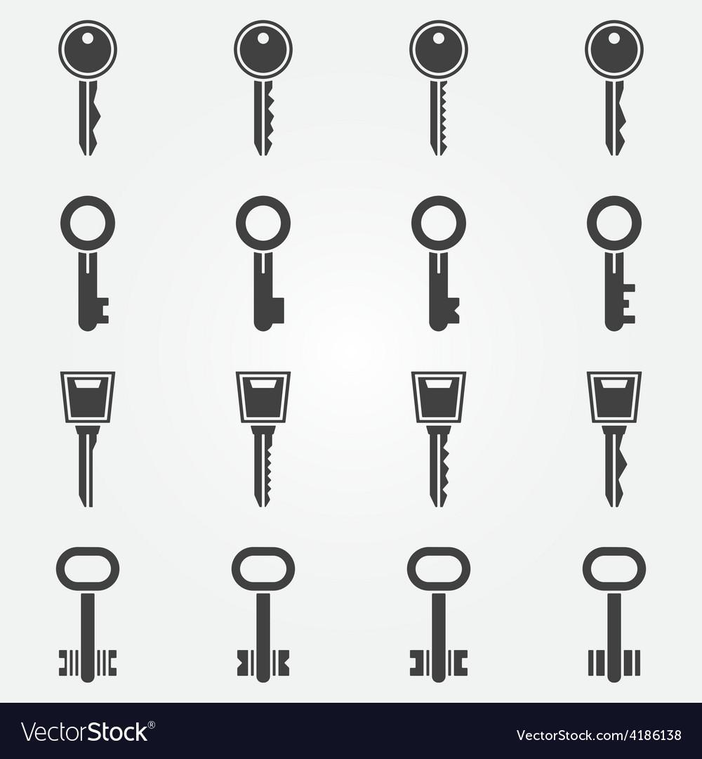 Key icons set vector | Price: 1 Credit (USD $1)