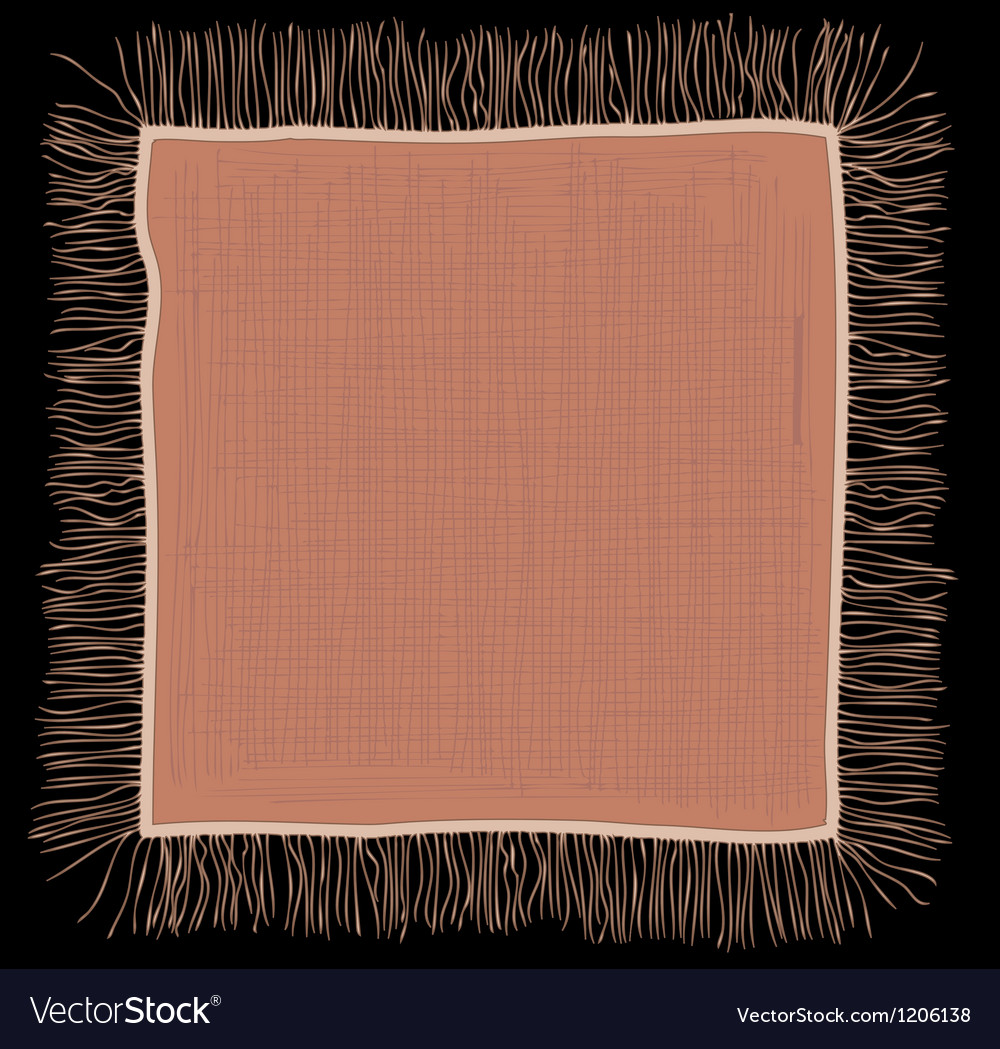 Linen napkin vector | Price: 1 Credit (USD $1)