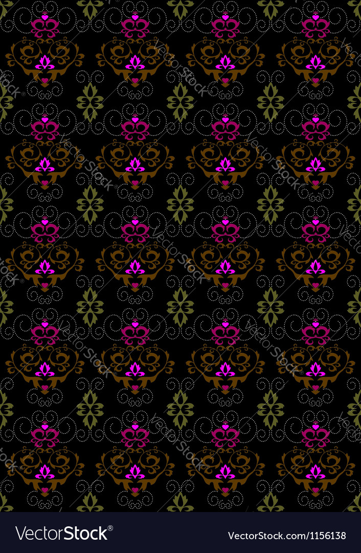 Motley seamless background with floral ornament vector | Price: 1 Credit (USD $1)