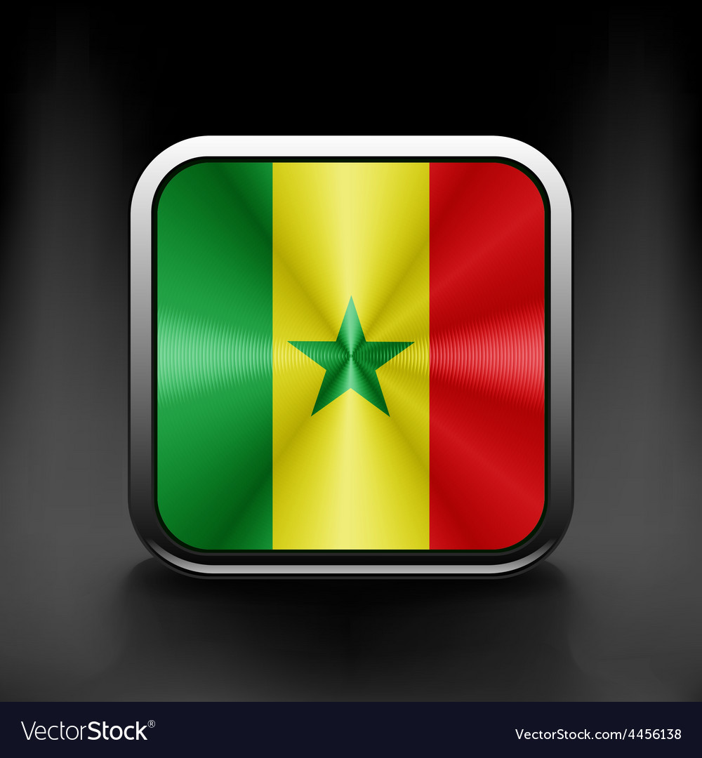 Original and simple senegal flag isolated vector | Price: 1 Credit (USD $1)