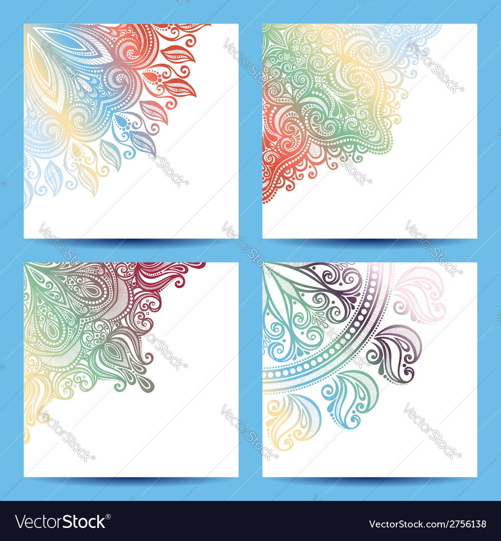 Set of patterned banner vector | Price: 1 Credit (USD $1)