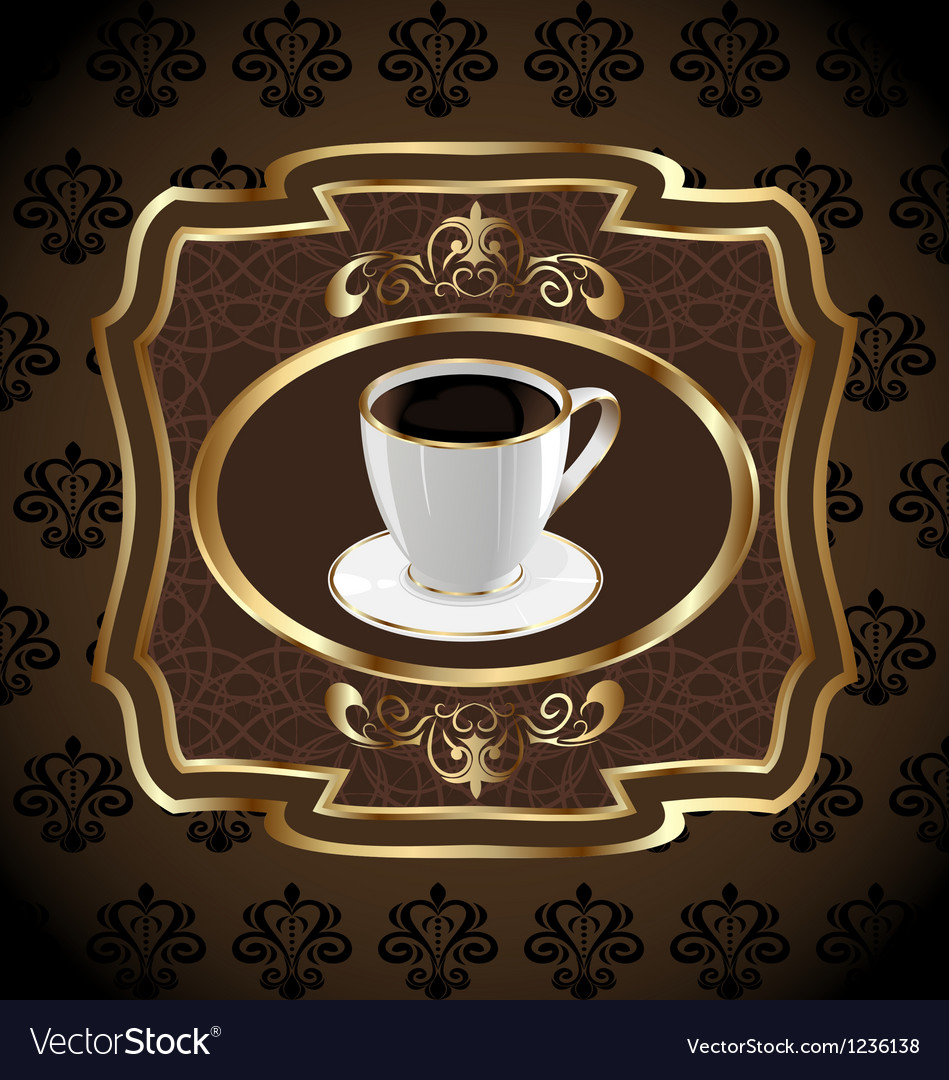 Vintage label for packing coffee coffee cup vector | Price: 1 Credit (USD $1)