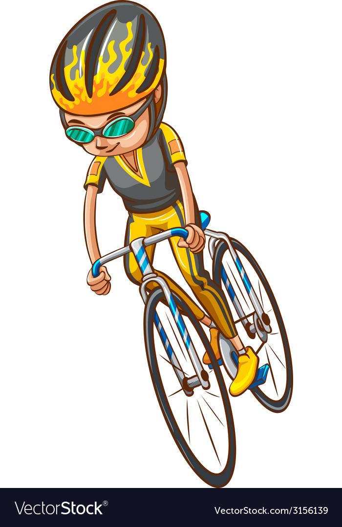 A sketch of a bicyclist vector | Price: 1 Credit (USD $1)