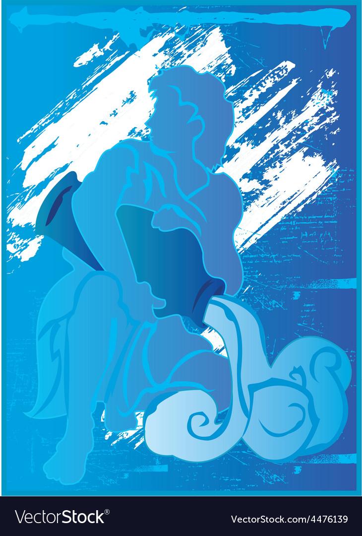 Aquarius background design vector | Price: 1 Credit (USD $1)