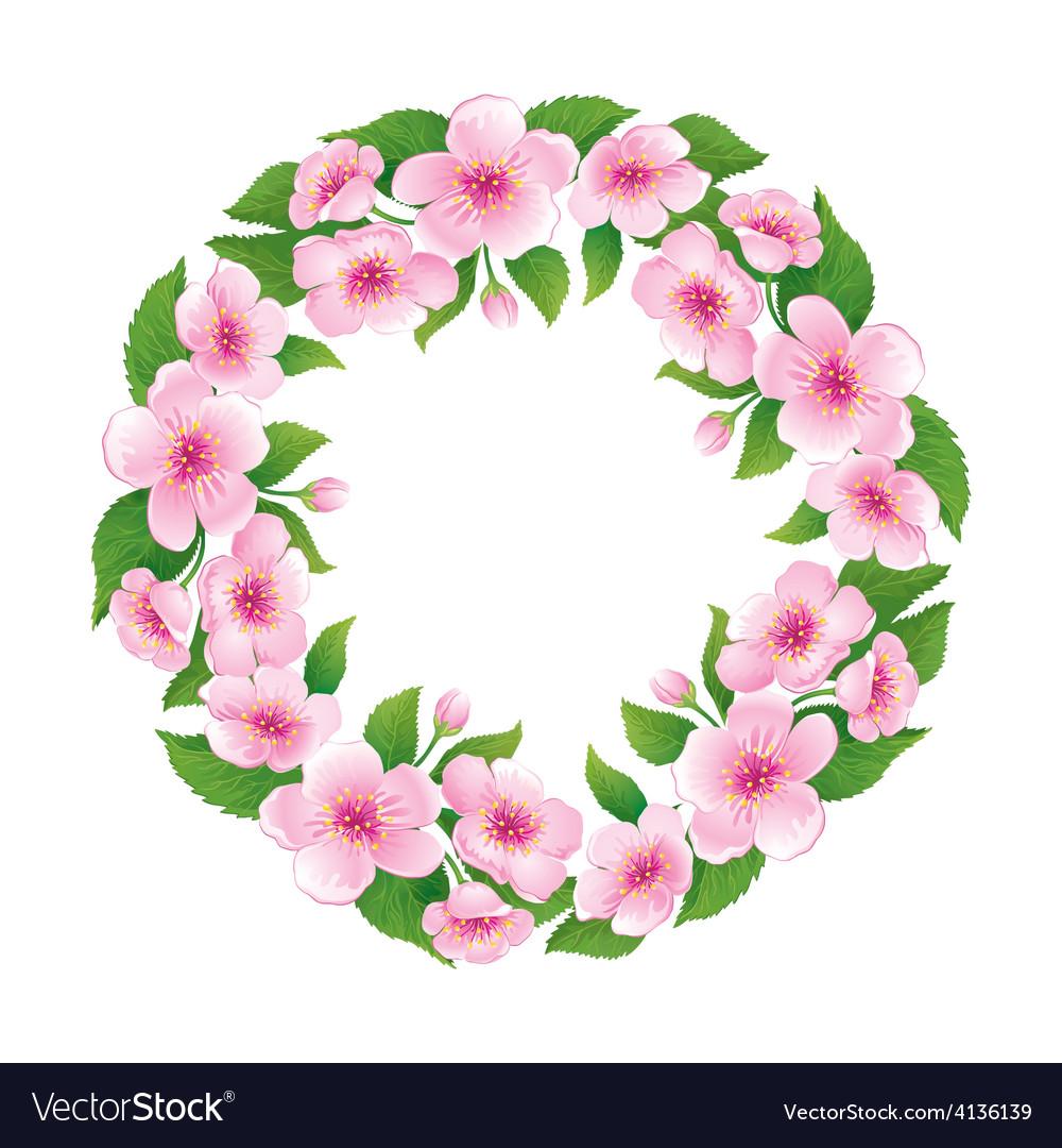 Blooming wreath vector | Price: 1 Credit (USD $1)