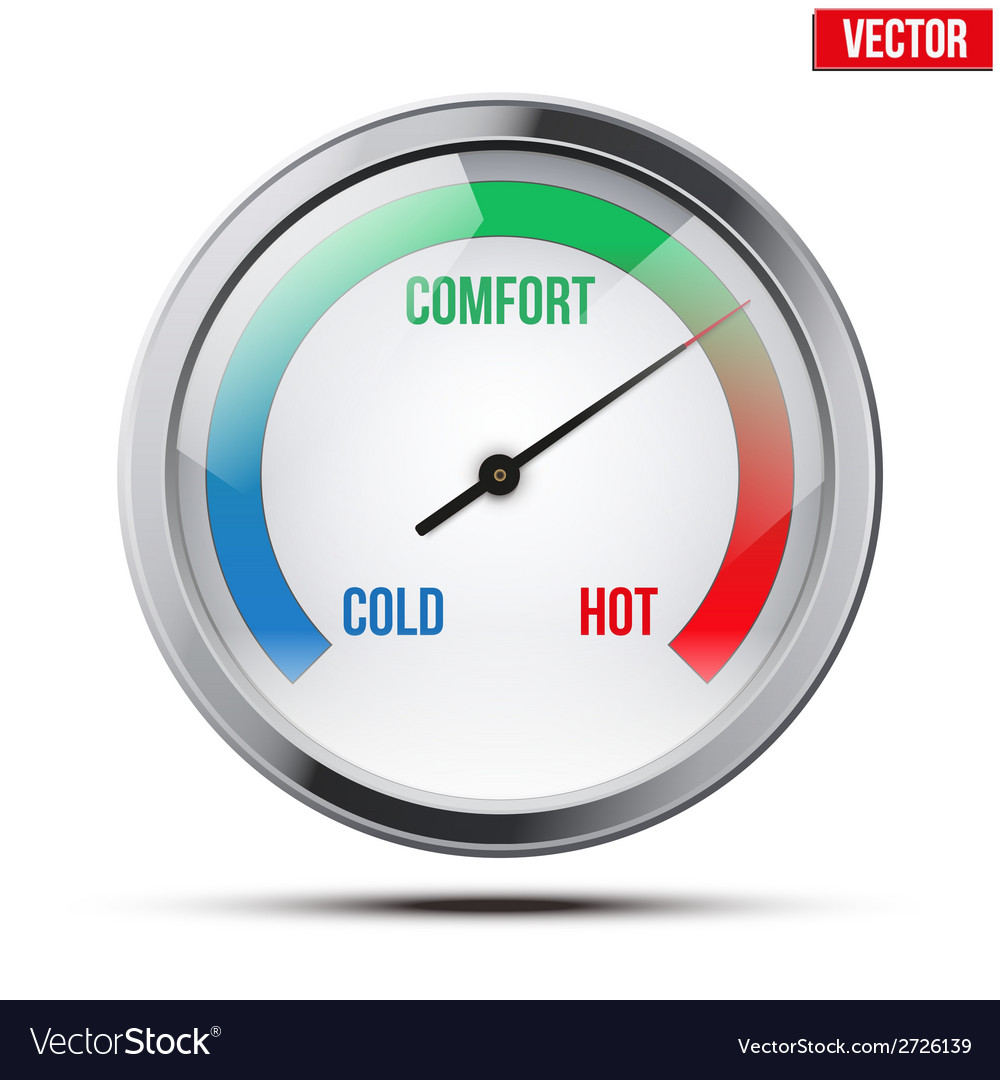 Indicator meter of comfort vector | Price: 1 Credit (USD $1)