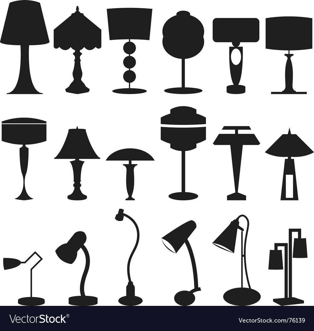 Lamps vector | Price: 1 Credit (USD $1)