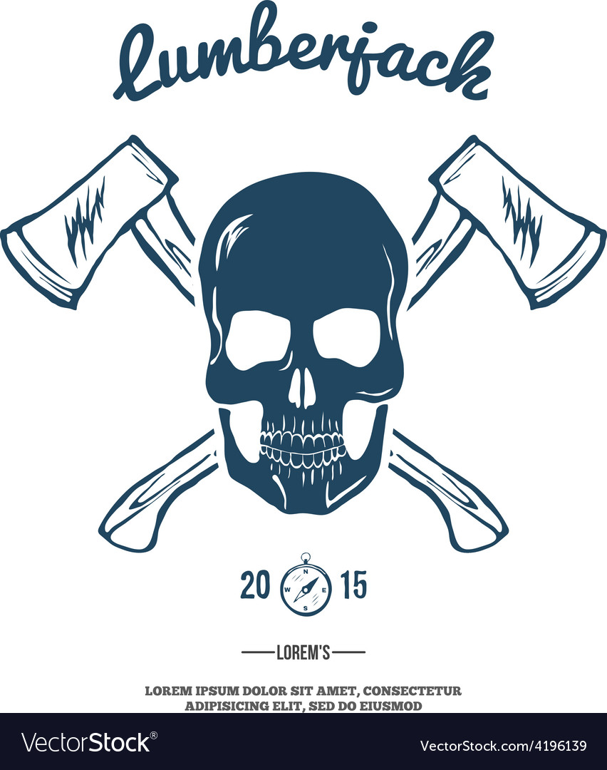 Skull with crossed axes vector | Price: 1 Credit (USD $1)