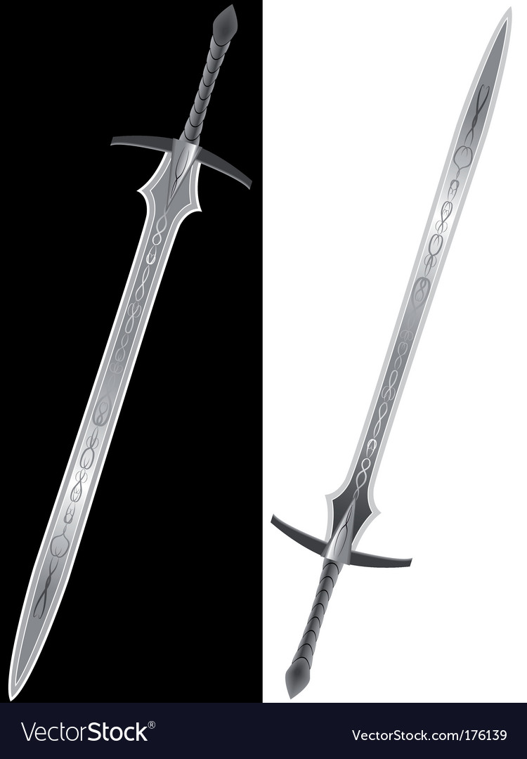 Steel sword of the knight vector | Price: 1 Credit (USD $1)