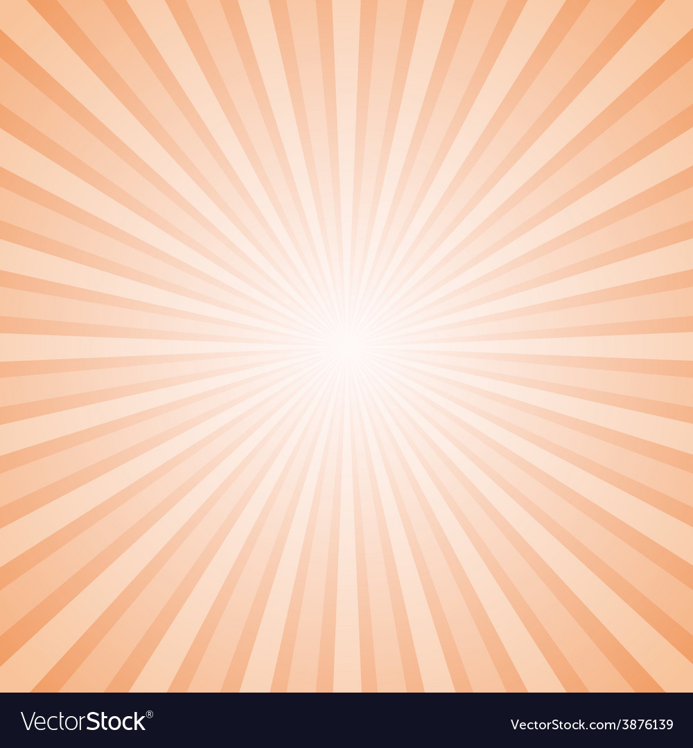 Sunny orange and white background with retro rays vector | Price: 1 Credit (USD $1)
