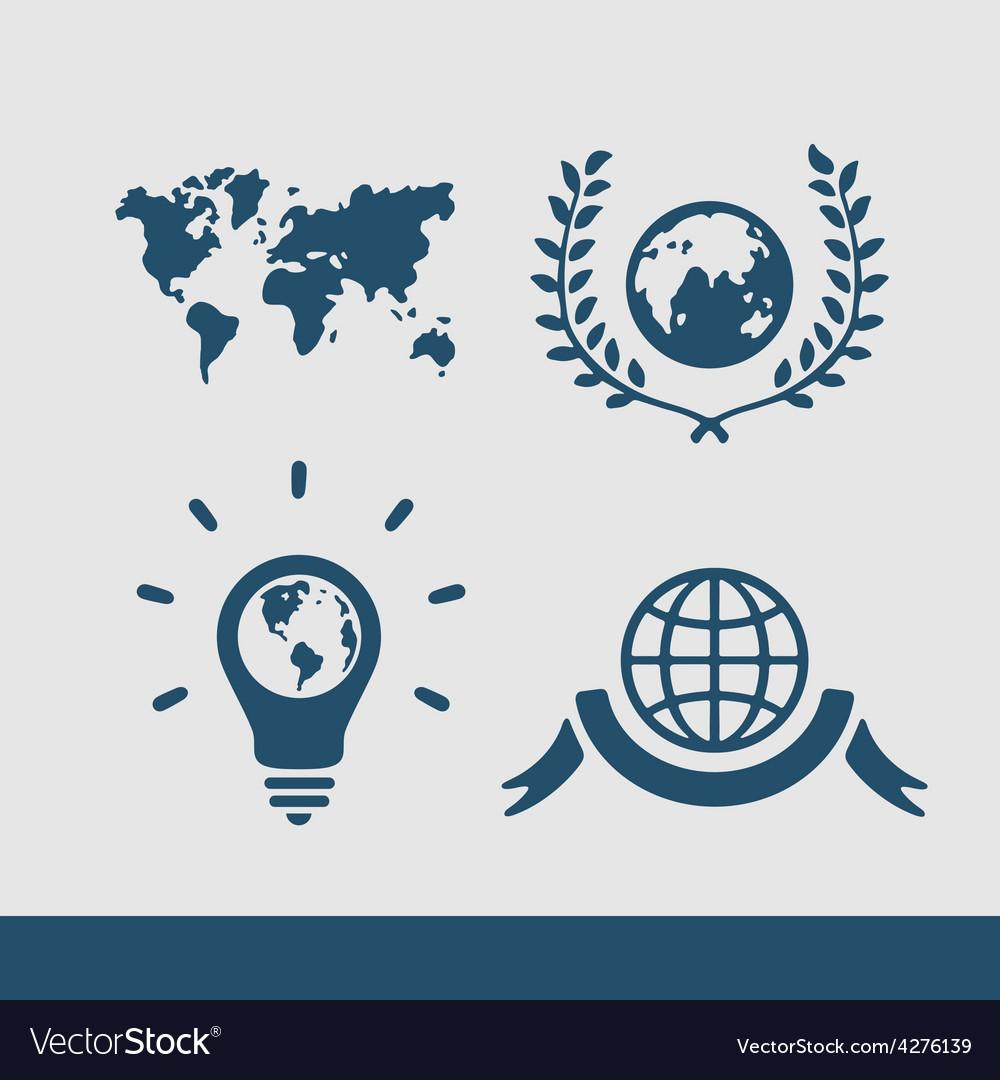 Symbol set planet vector | Price: 1 Credit (USD $1)