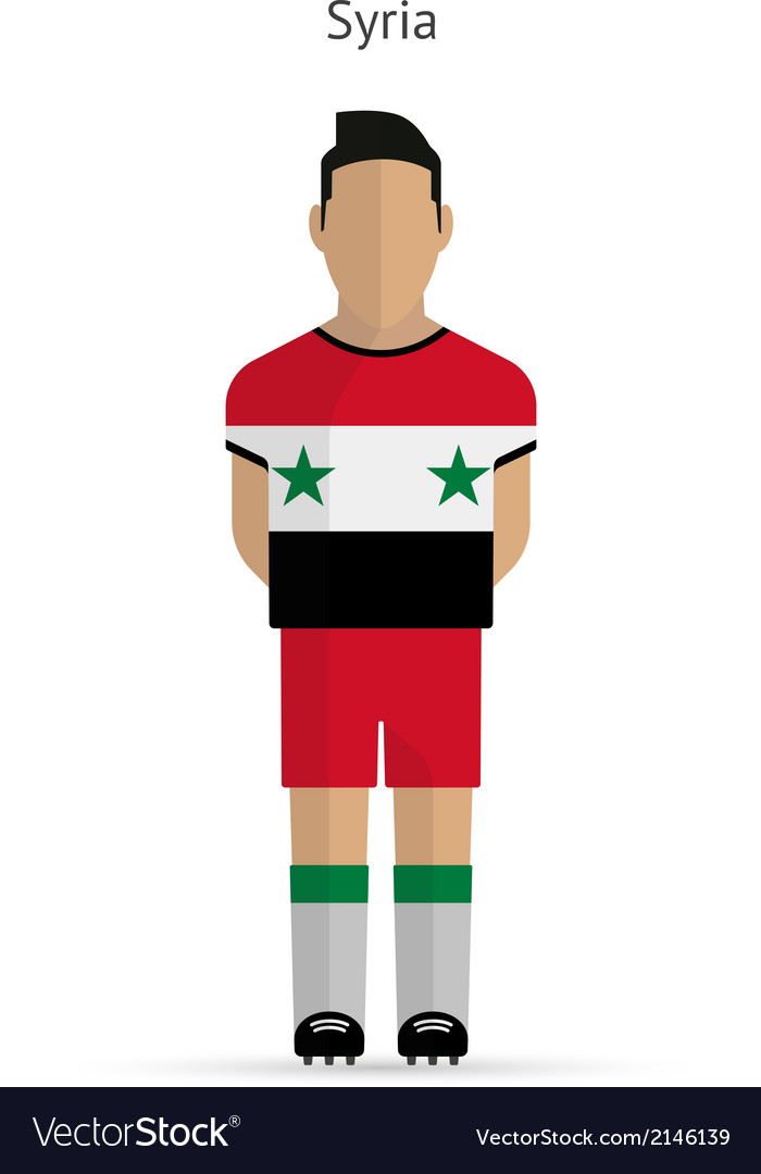 Syria football player soccer uniform vector | Price: 1 Credit (USD $1)