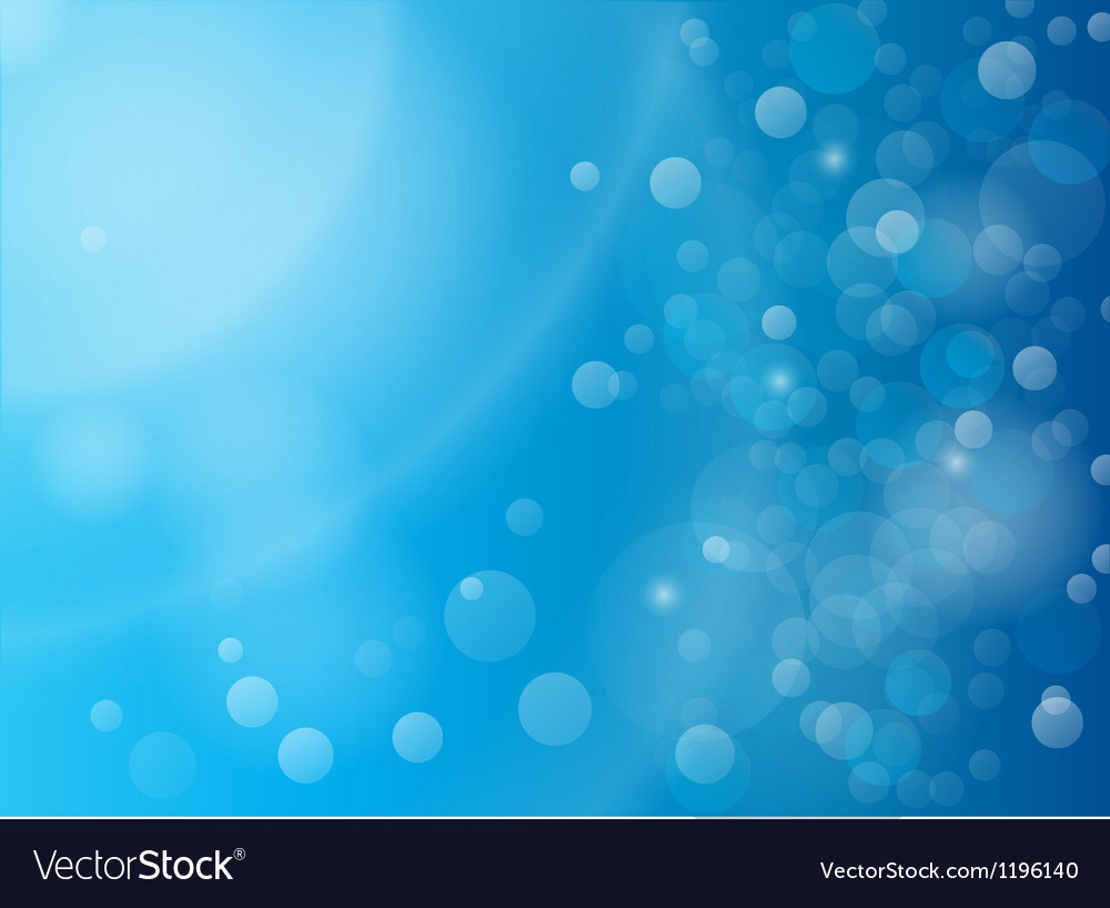 Abstract blue bokeh background vector | Price: 1 Credit (USD $1)