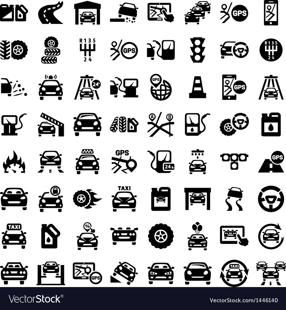 Big auto icons set vector | Price: 1 Credit (USD $1)