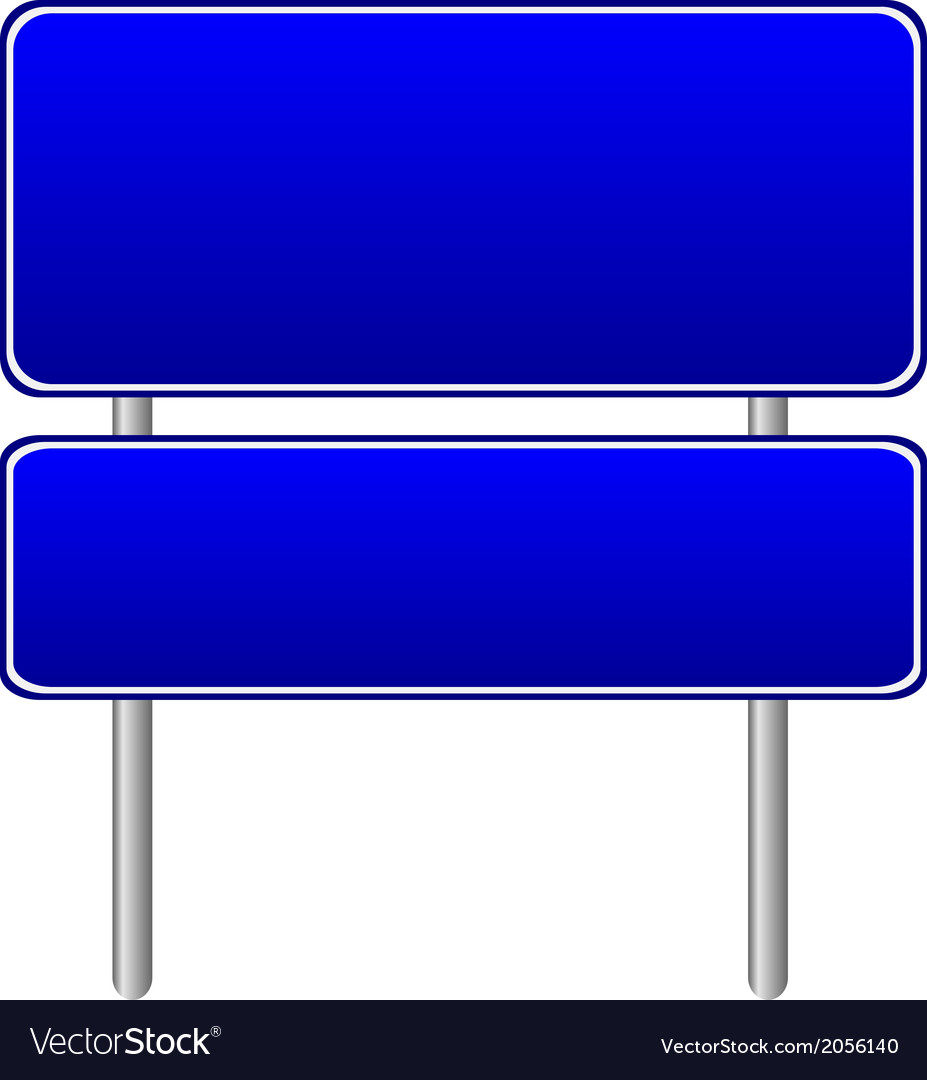 Blank blue road sign vector | Price: 1 Credit (USD $1)