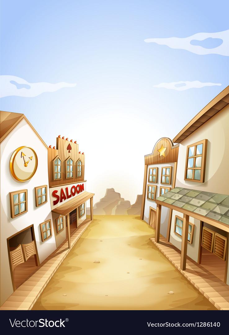 Different types of establishments vector