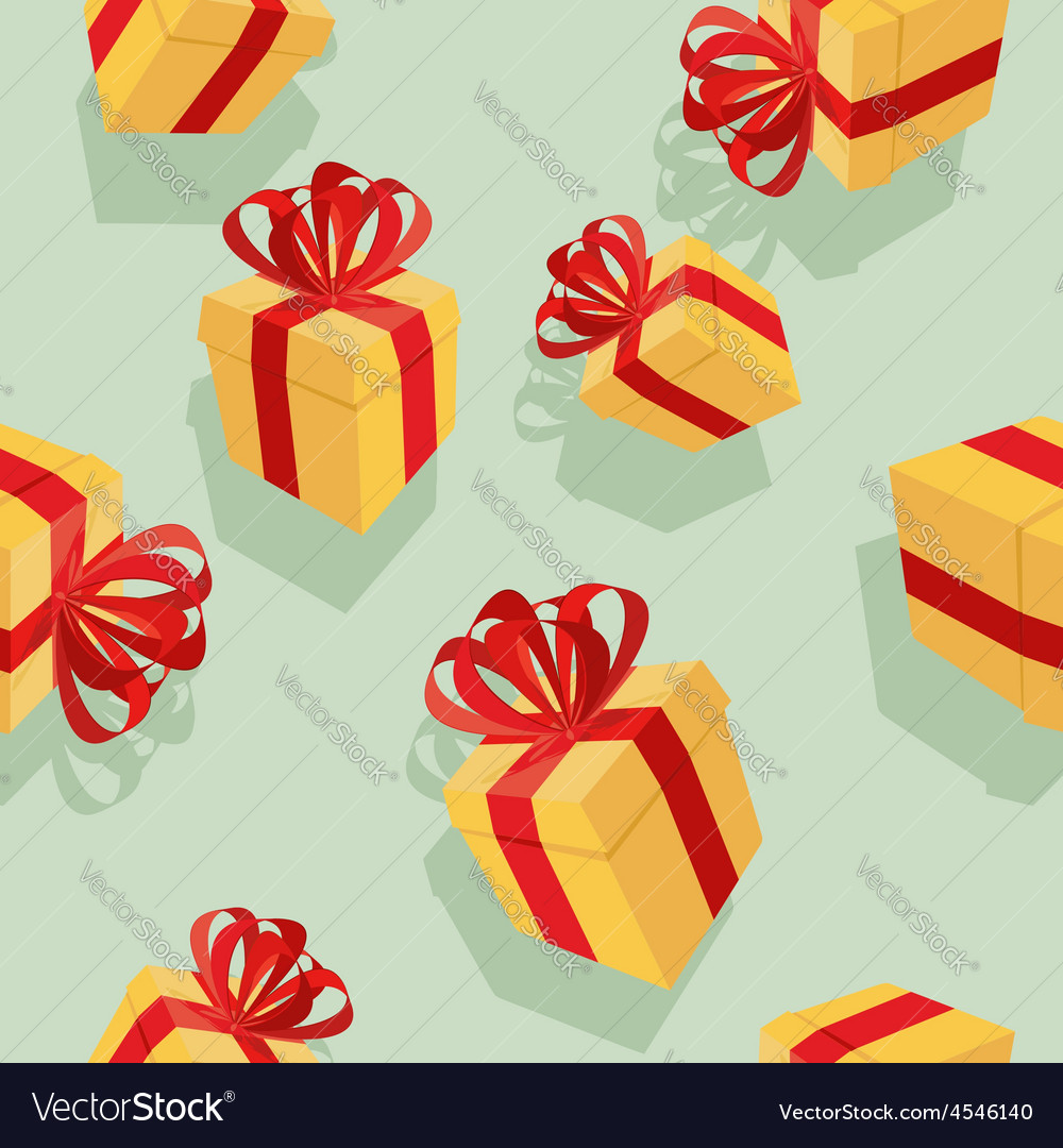 Gift boxes seamless pattern background for vector