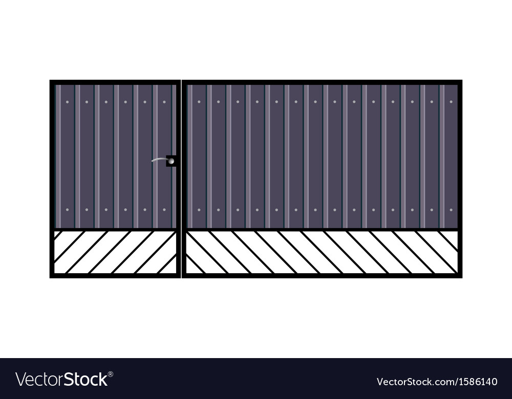 Iron gate with door vector | Price: 1 Credit (USD $1)