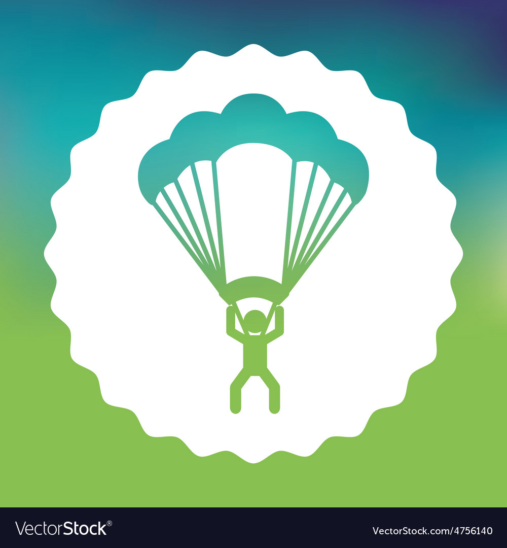Parachute flight vector | Price: 1 Credit (USD $1)