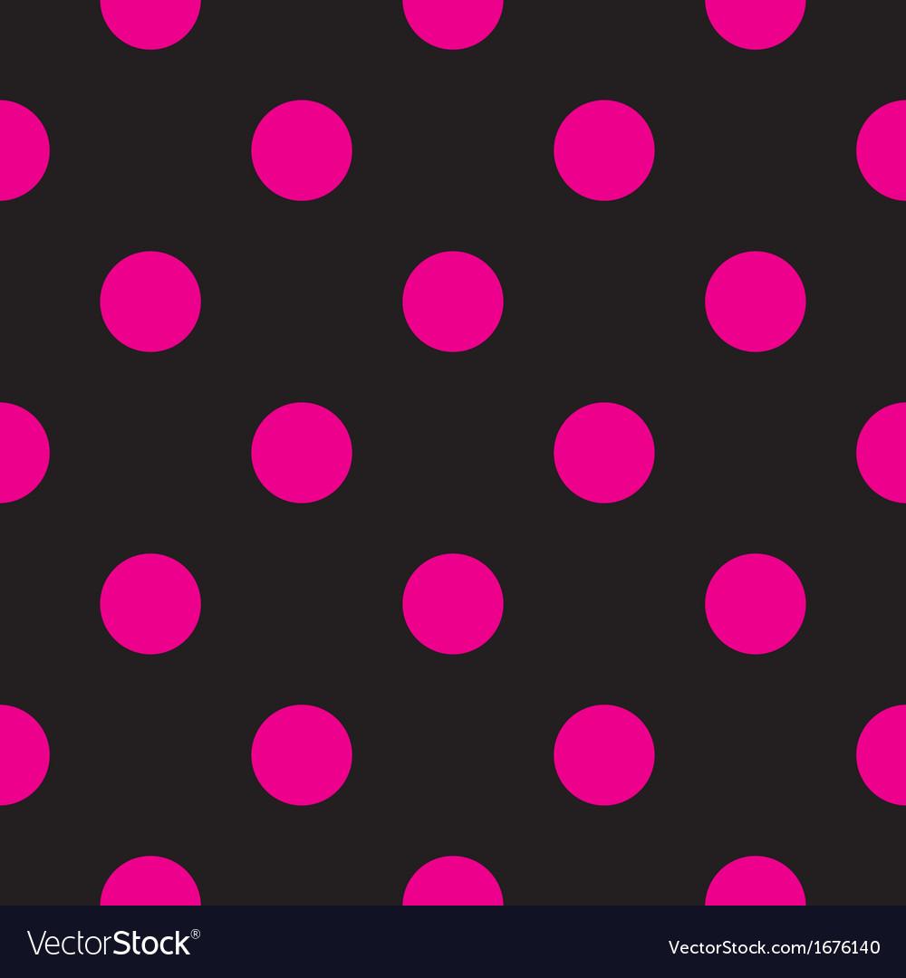 Seamless dark pattern with big neon pink polka dot vector | Price: 1 Credit (USD $1)