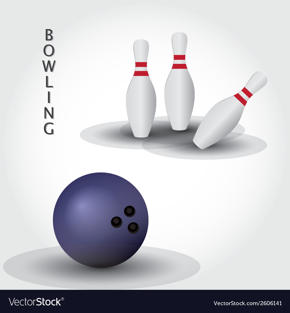 Bowling eps10 vector | Price: 1 Credit (USD $1)