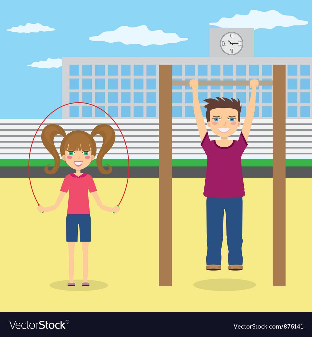 Children near school vector   Price: 1 Credit (USD $1)