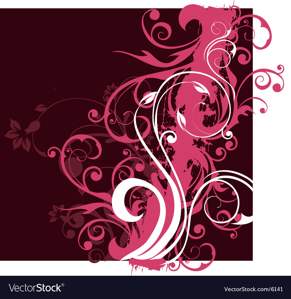 Floral background design vector