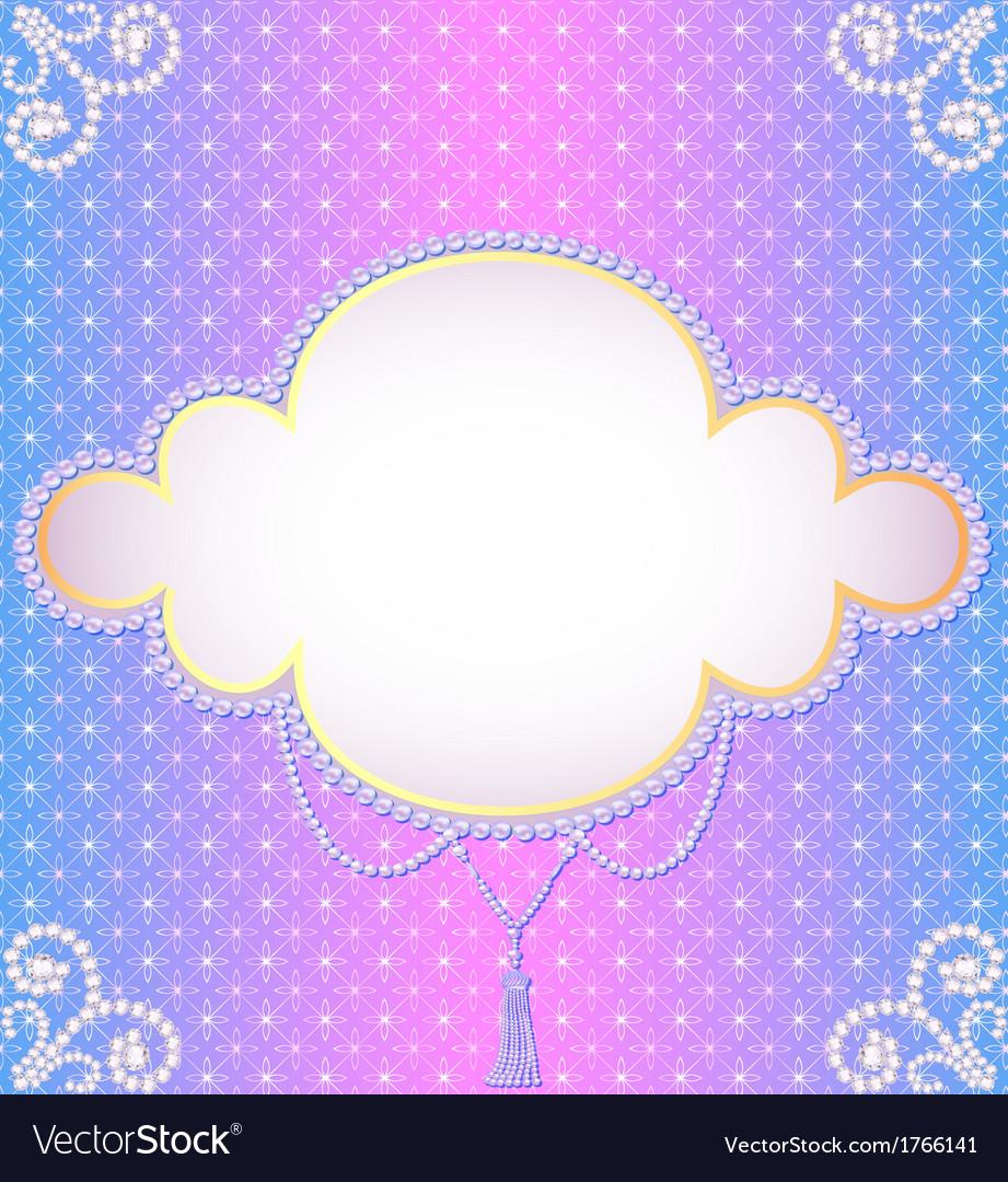 Gentle background frame vector | Price: 1 Credit (USD $1)