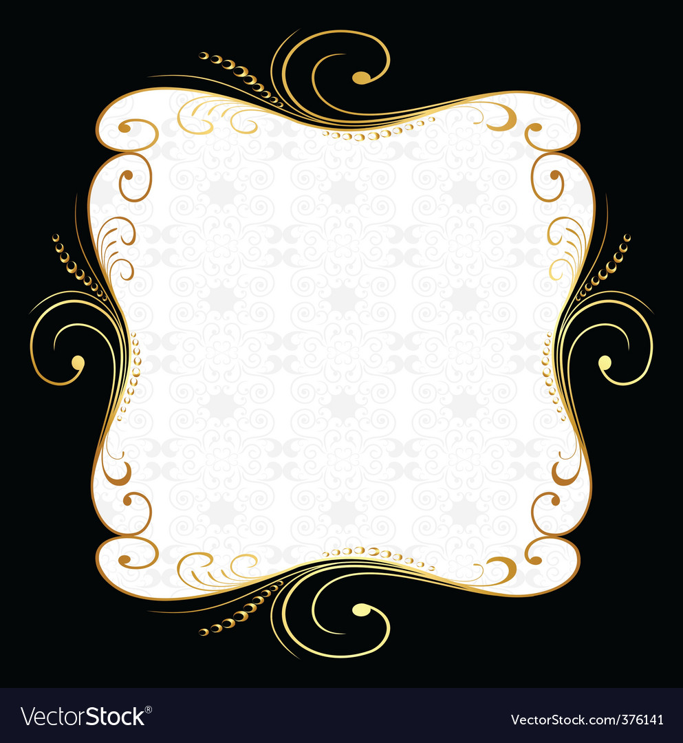 Golden floral frame vector   Price: 1 Credit (USD $1)