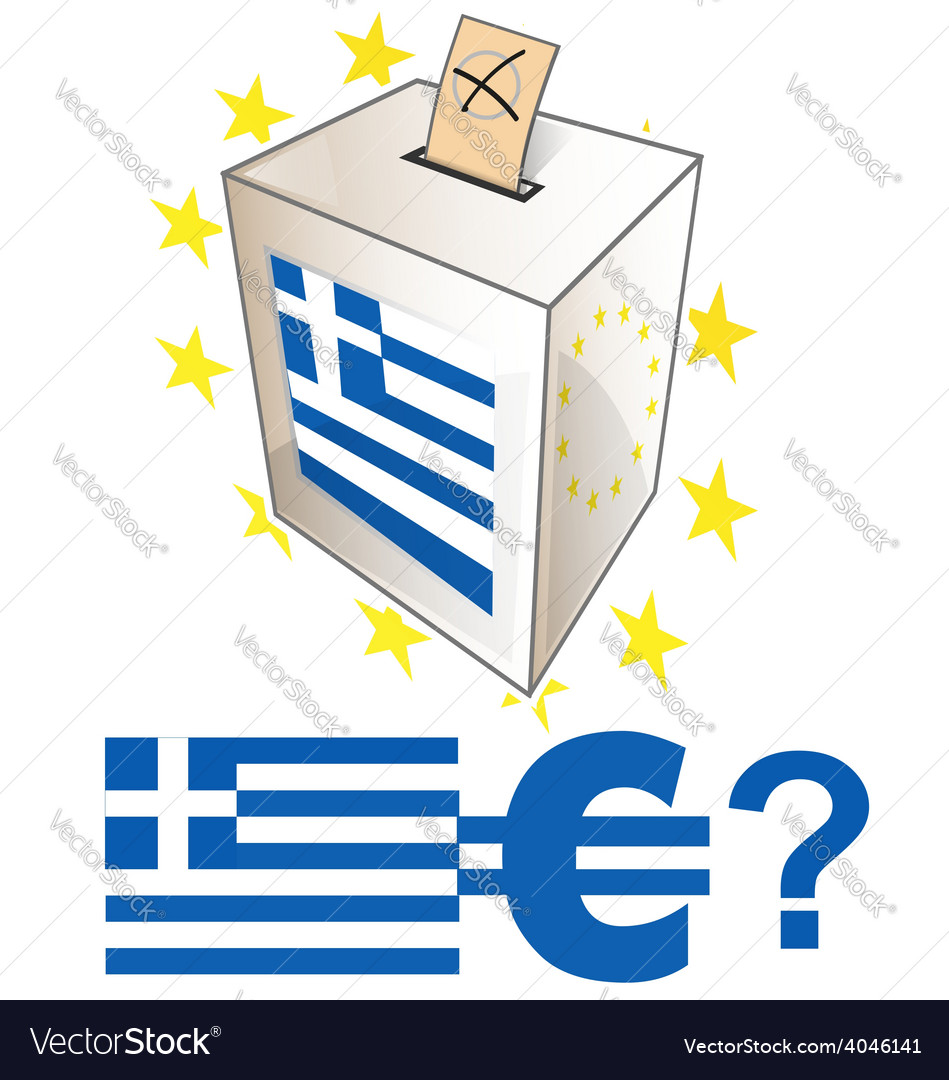 Greek election day vector | Price: 1 Credit (USD $1)