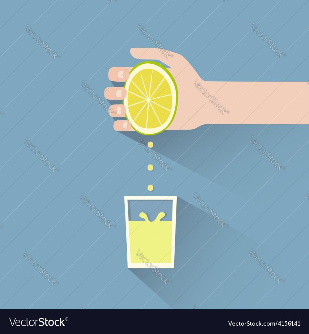 Lemon squeeze vector | Price: 1 Credit (USD $1)