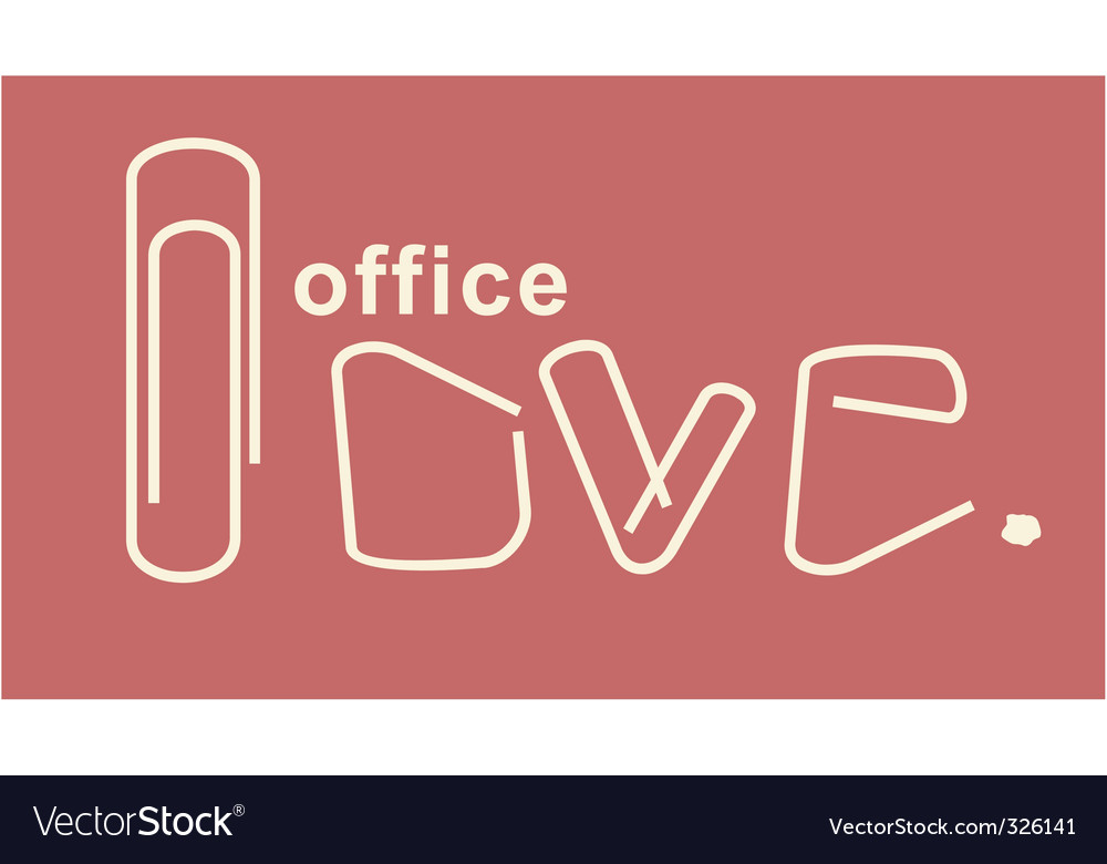Office love vector | Price: 1 Credit (USD $1)