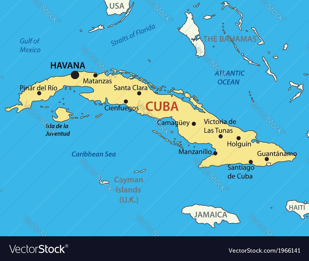 Republic of cuba - map vector | Price: 1 Credit (USD $1)