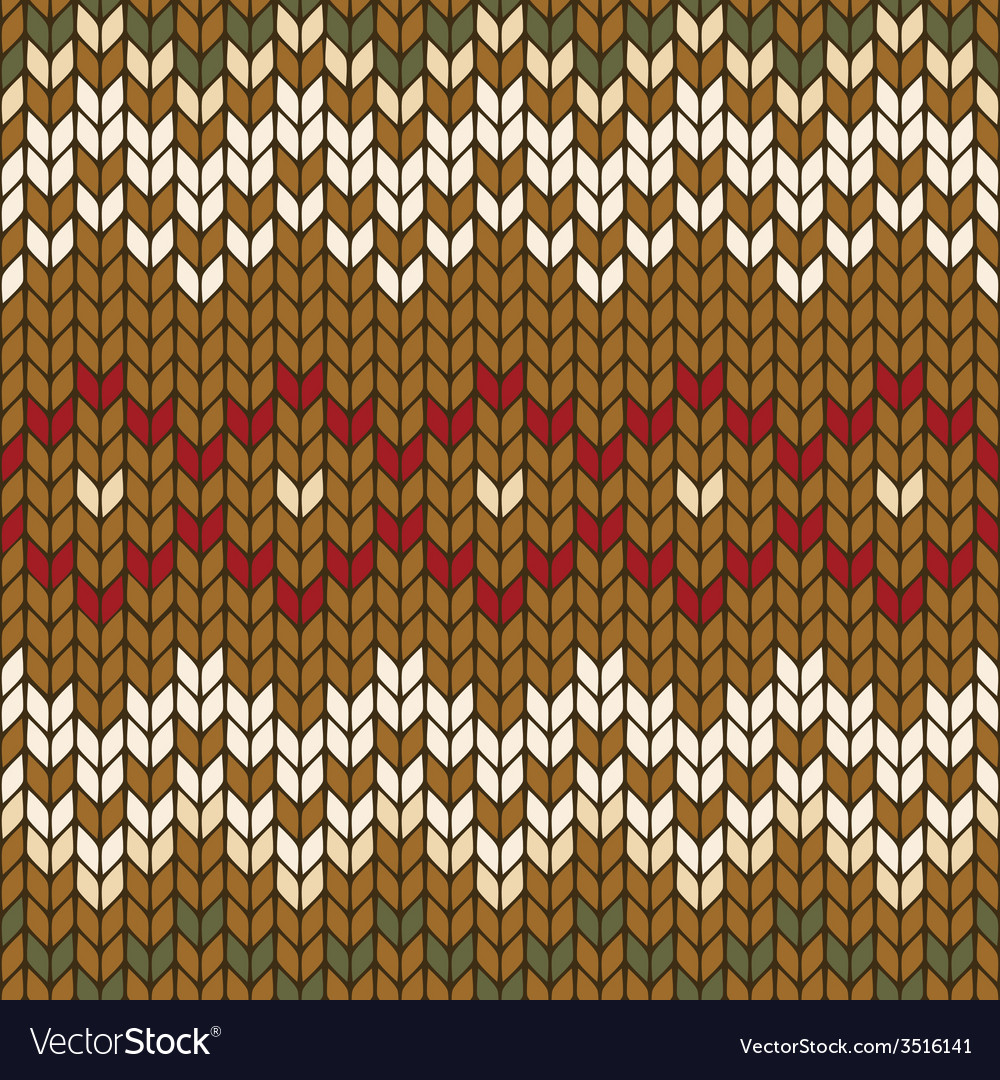 Seamless knitted geometric pattern vector | Price: 1 Credit (USD $1)