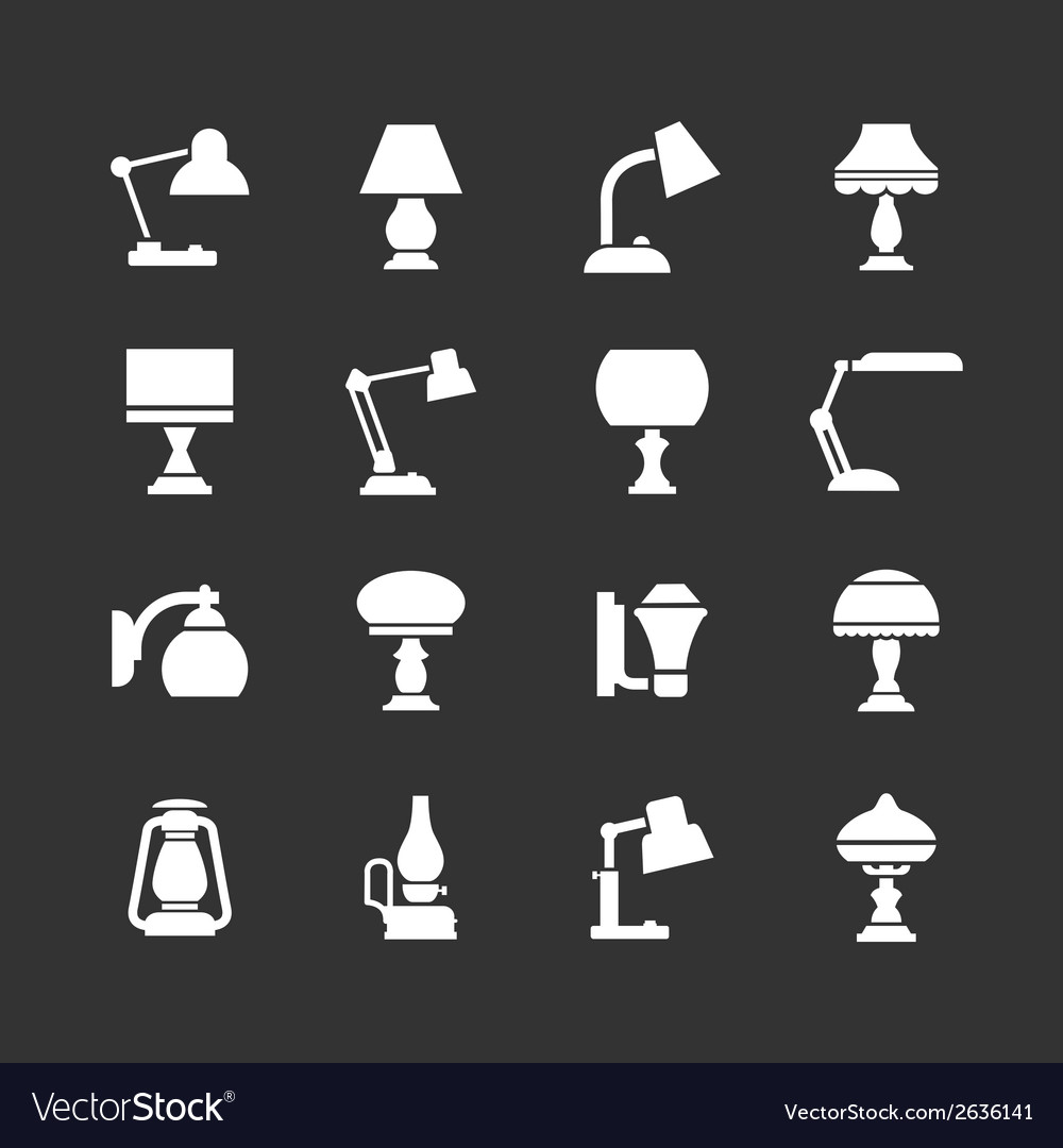 Set icons of lamps vector | Price: 1 Credit (USD $1)