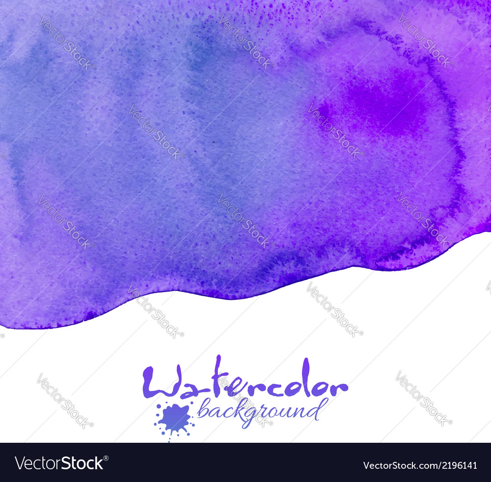 Violet watercolor background vector | Price: 1 Credit (USD $1)
