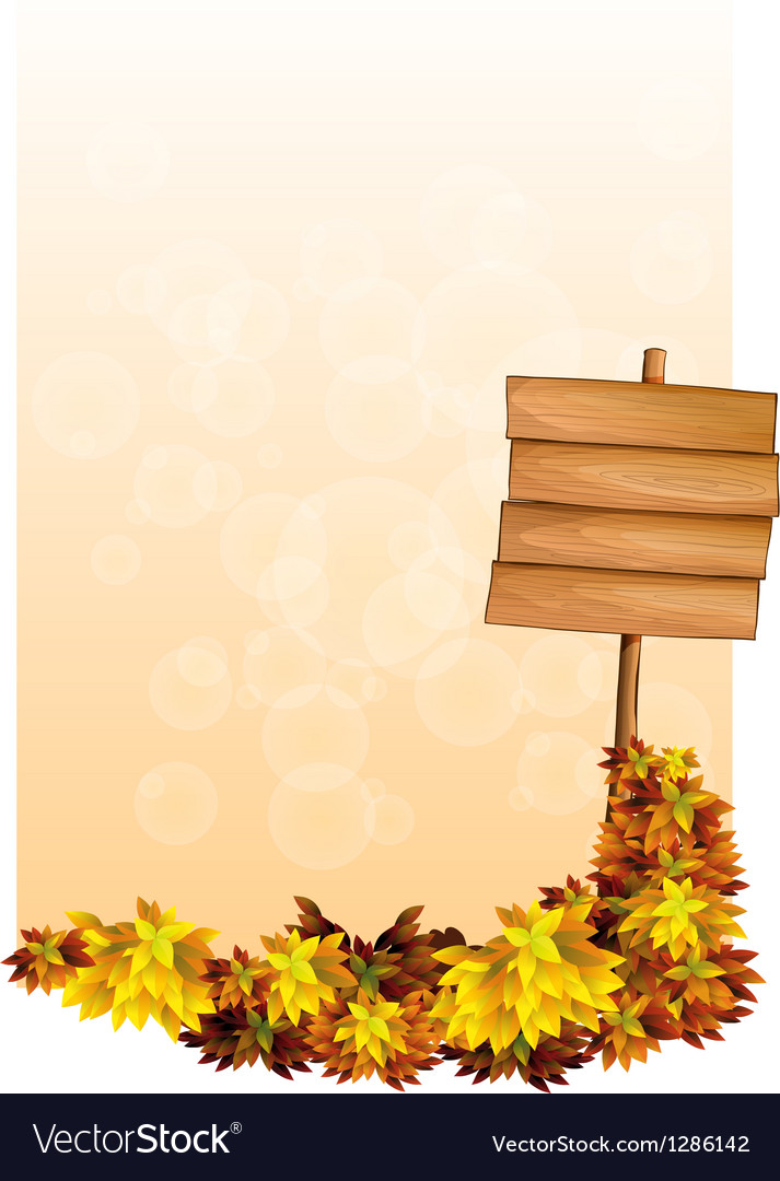A blank paper with an empty wooden signboard vector   Price: 1 Credit (USD $1)