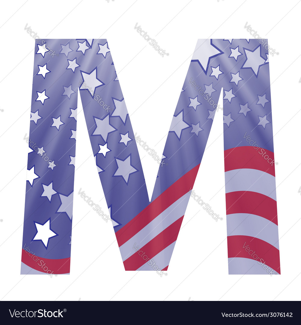 American letter m vector | Price: 1 Credit (USD $1)