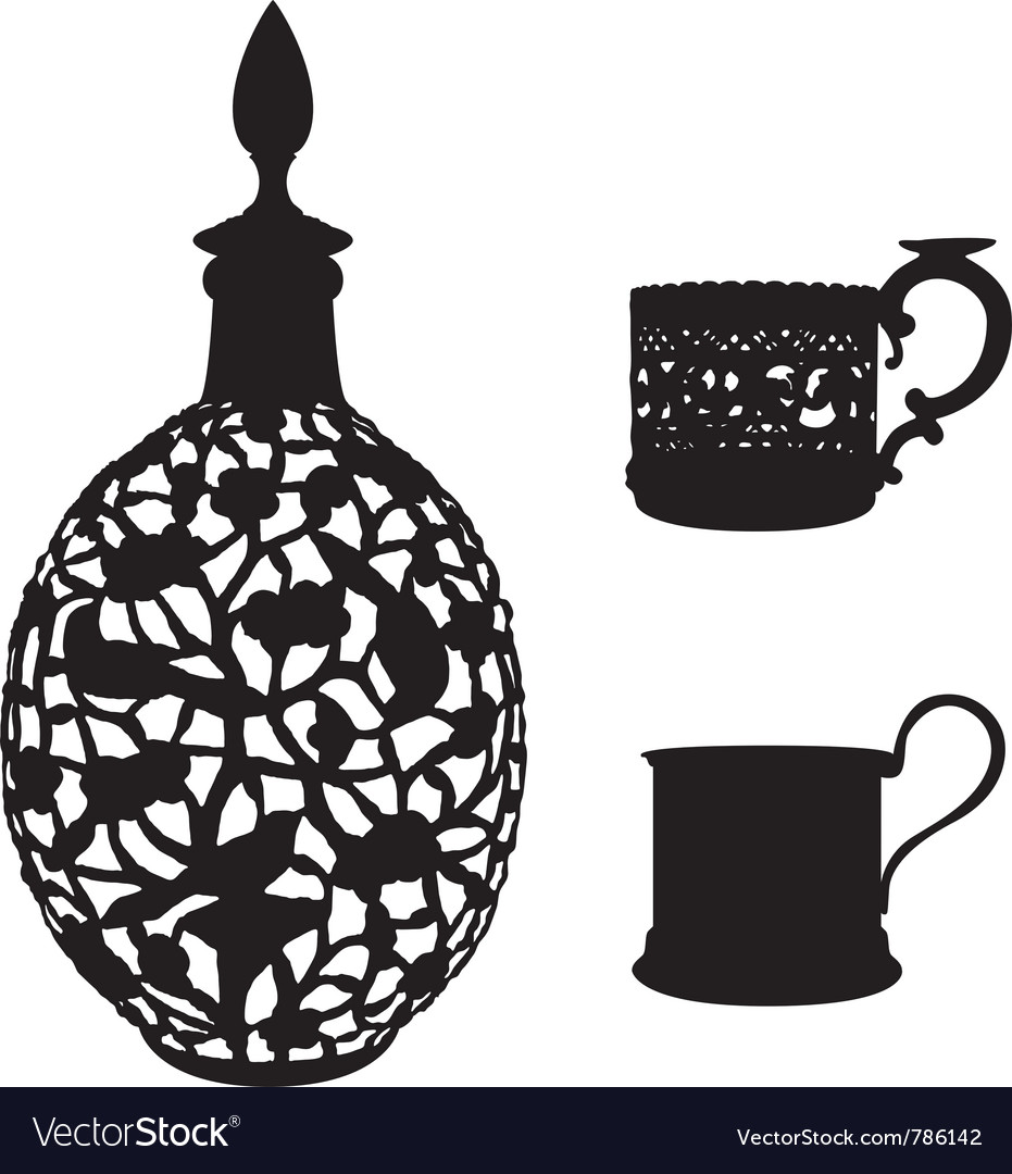 Antique tableware vector | Price: 1 Credit (USD $1)