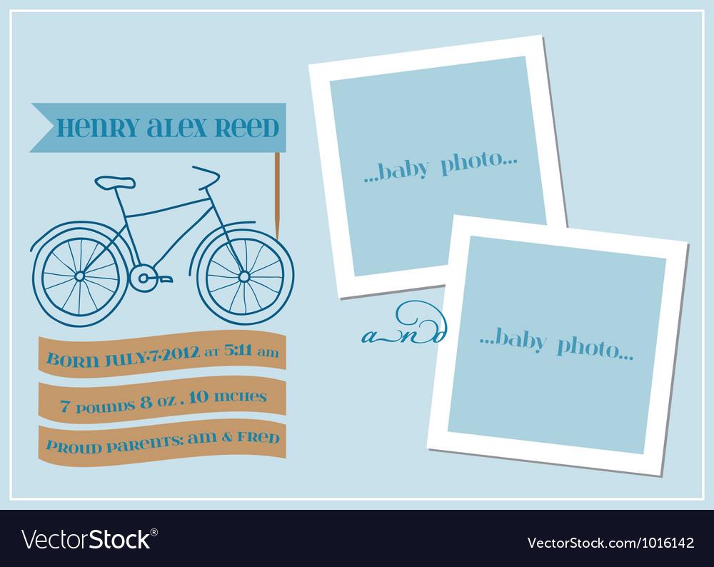 Baby boy arrival card vector | Price: 1 Credit (USD $1)