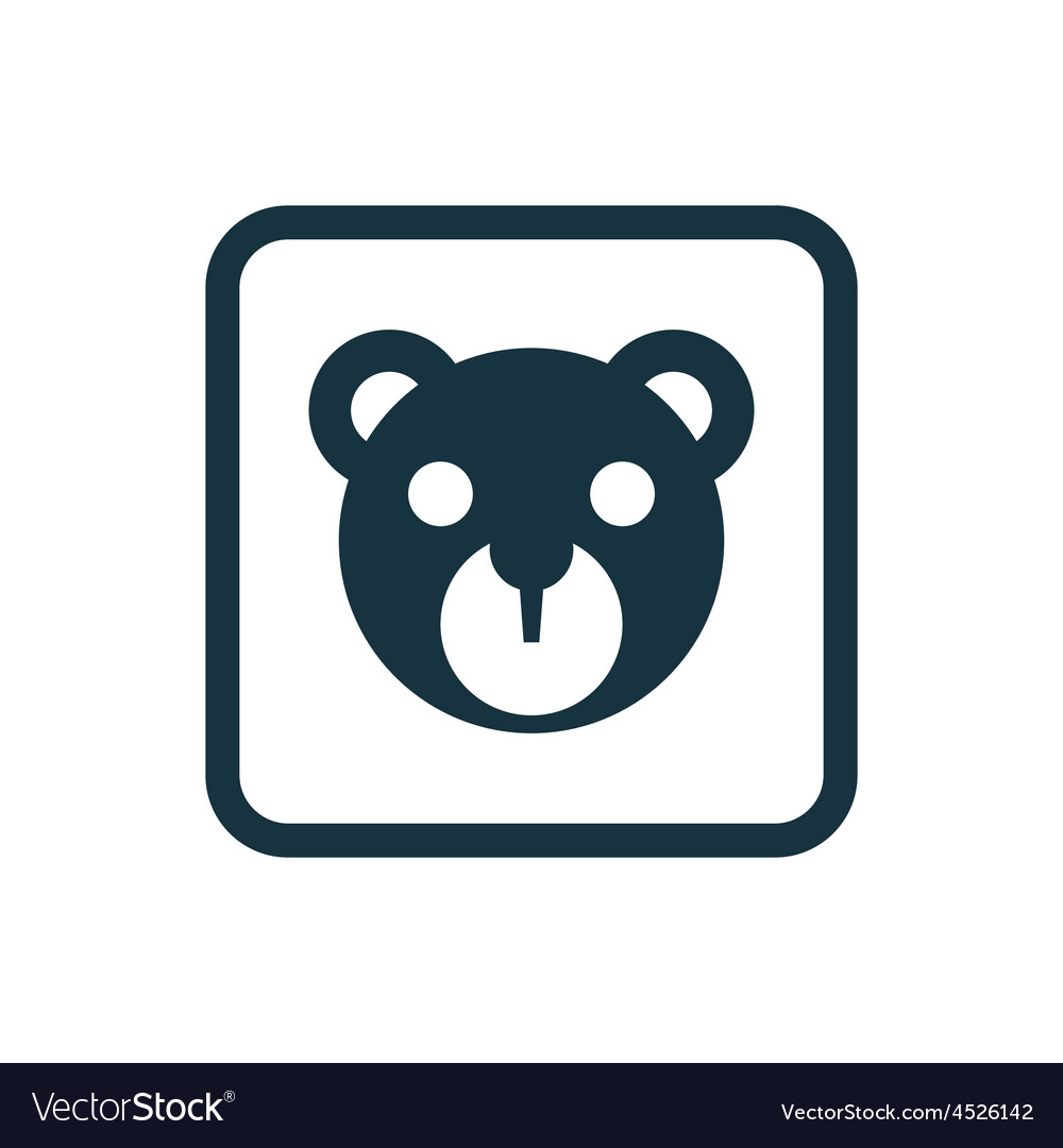 Bear toy icon rounded squares button vector | Price: 1 Credit (USD $1)