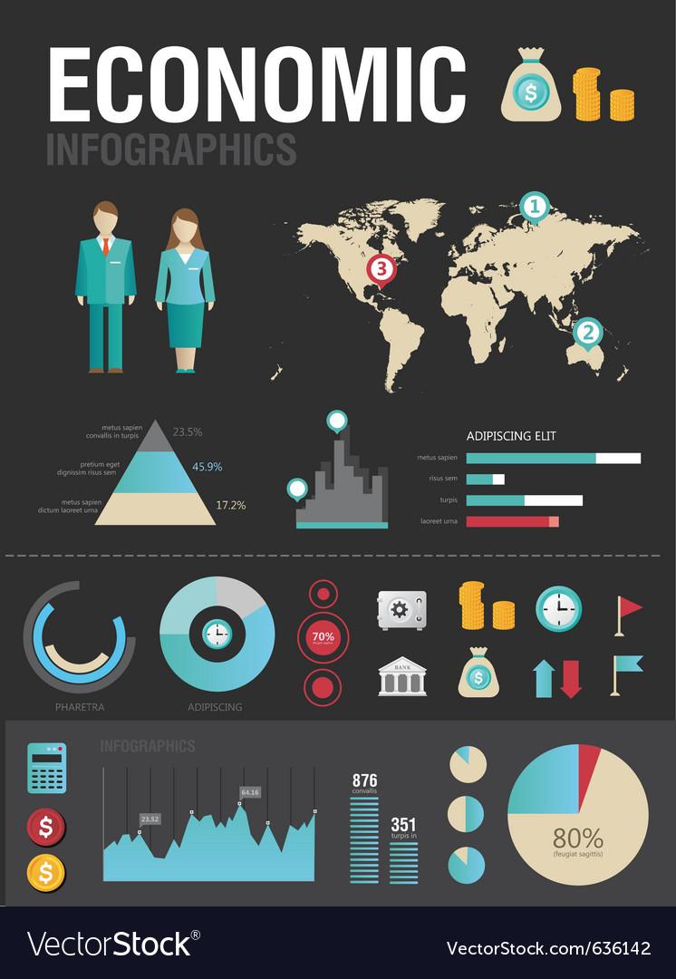 Economic infographic vector | Price: 3 Credit (USD $3)