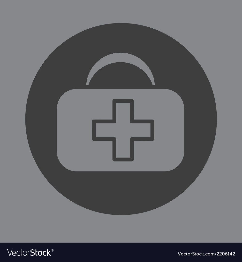 First aid bag icon symbol vector | Price: 1 Credit (USD $1)