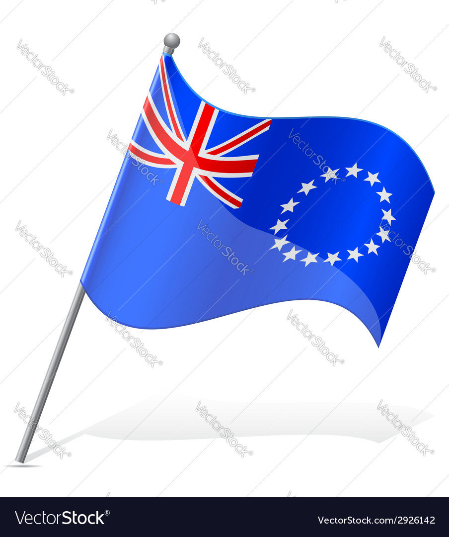Flag of cook islands vector | Price: 1 Credit (USD $1)