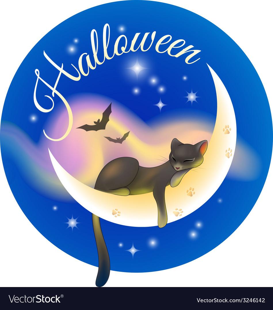 Halloween sleeping cat vector   Price: 1 Credit (USD $1)
