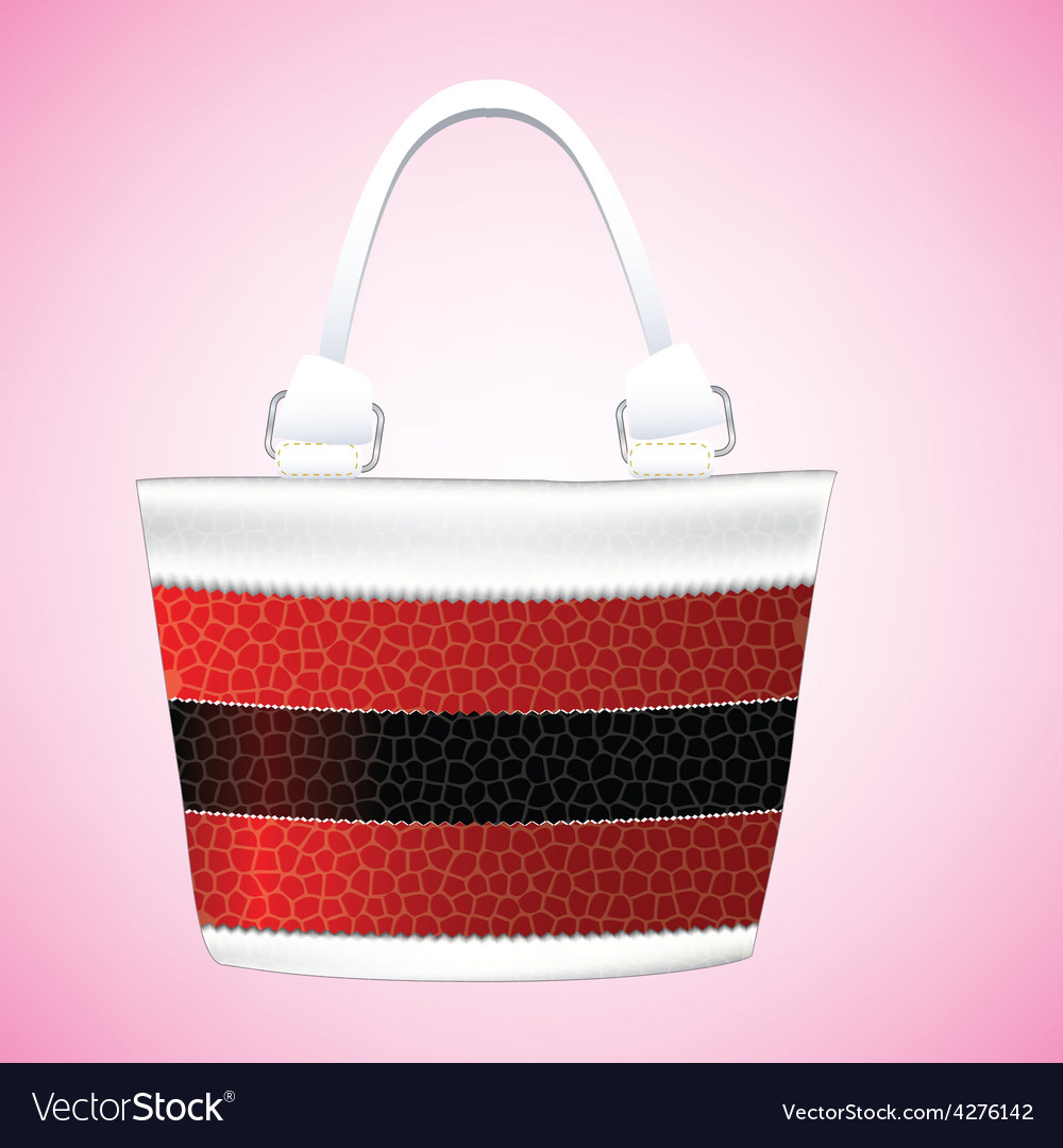 Leather striped shoulder bag for women vector | Price: 1 Credit (USD $1)
