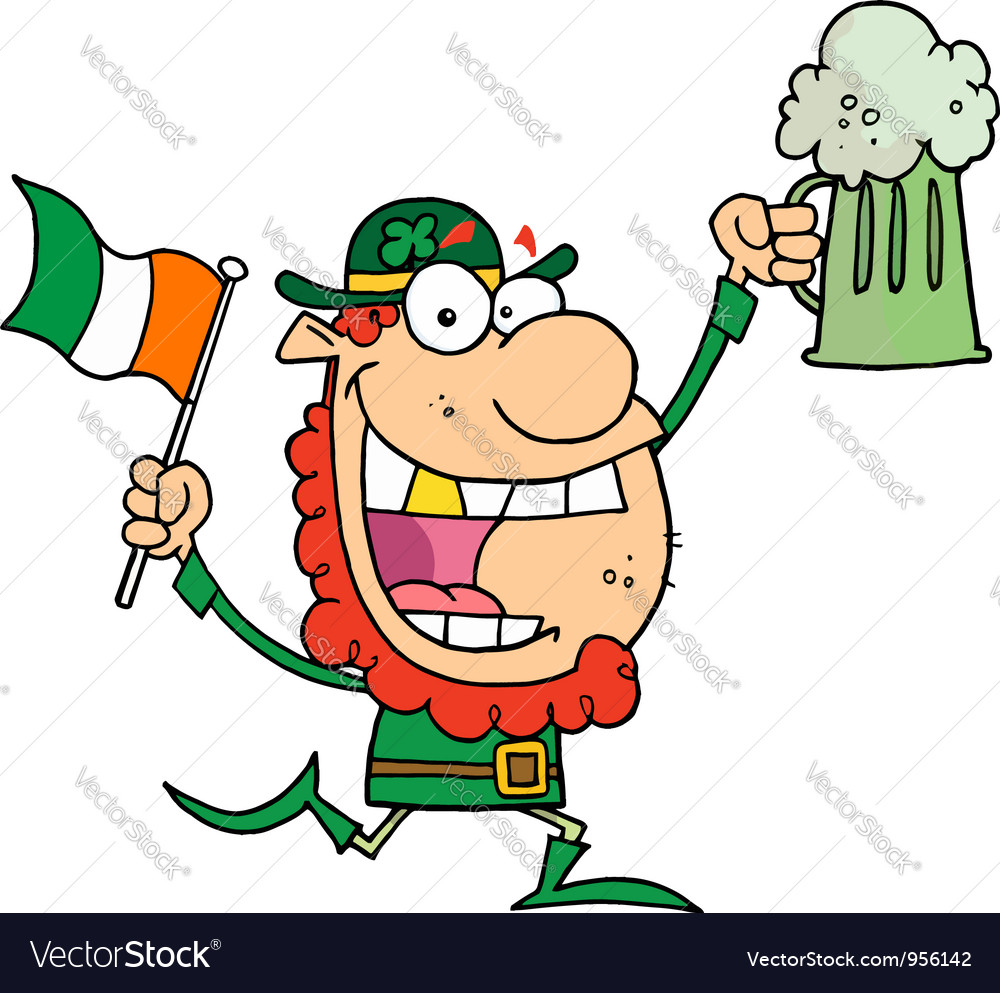 Leprechaun with a golden tooth vector | Price: 1 Credit (USD $1)
