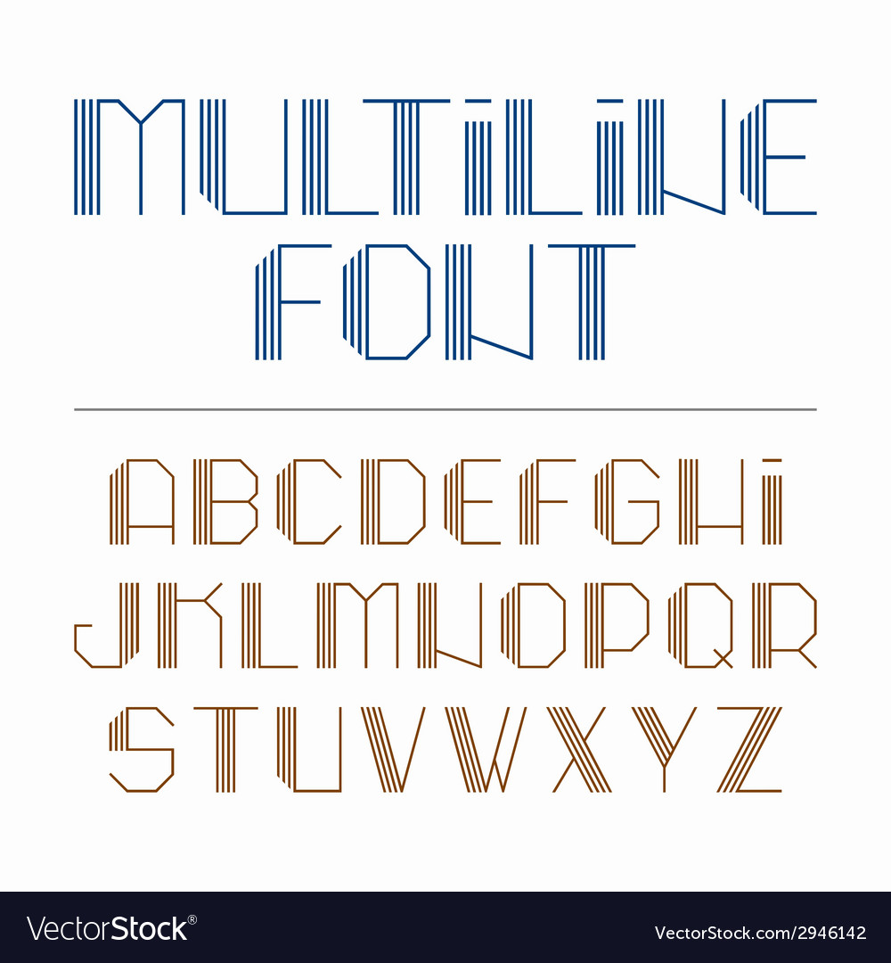 Multiline font vector | Price: 1 Credit (USD $1)